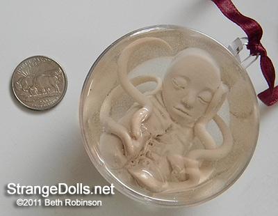 Bizarre Alien Fetus Ornaments by strangedolls