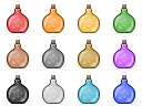 Magic Potion Bottles by zachriel