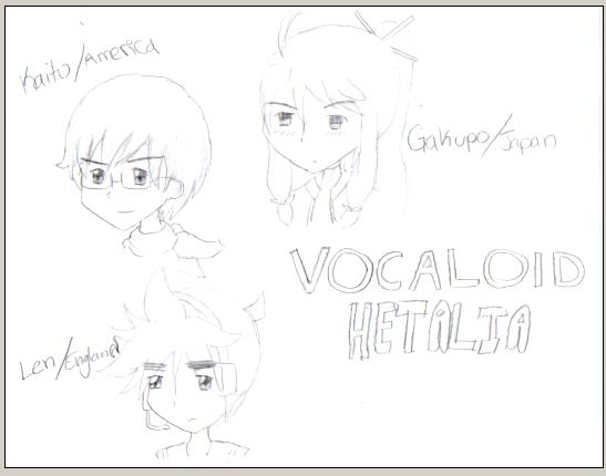 Hetalia cosplays as Vocaloid