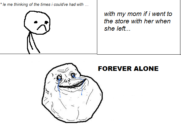 forever alone drawing by - photo #43