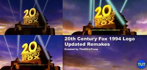 20th Century Fox 1994 Logo Updated Remakes