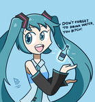 hatsune miku reminds you to drink water