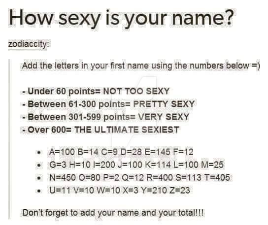 How sexy is your name foto 459