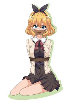 Blond schoolgirl