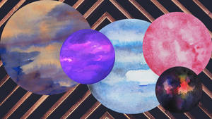 Planets of watercolor