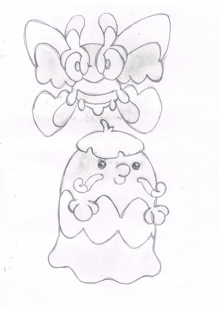 Marauma's Mothim and Marauma's Swalot by megafanXD