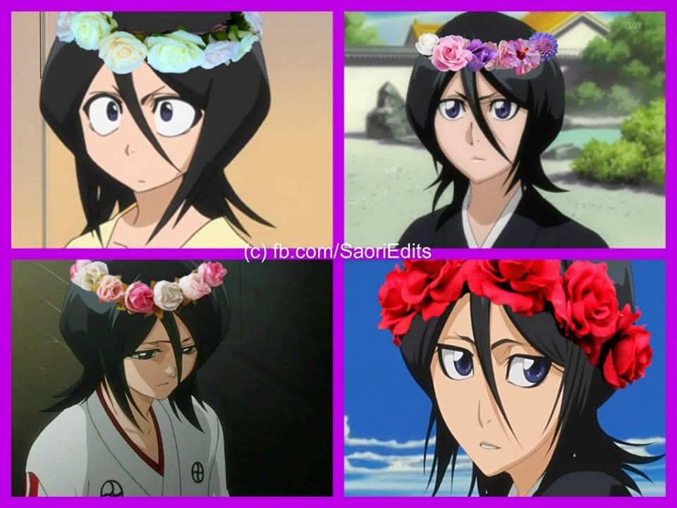 Rukia Kuchiki Flower Crown Icons Set 2 By Saori Uchiha14 On Deviantart