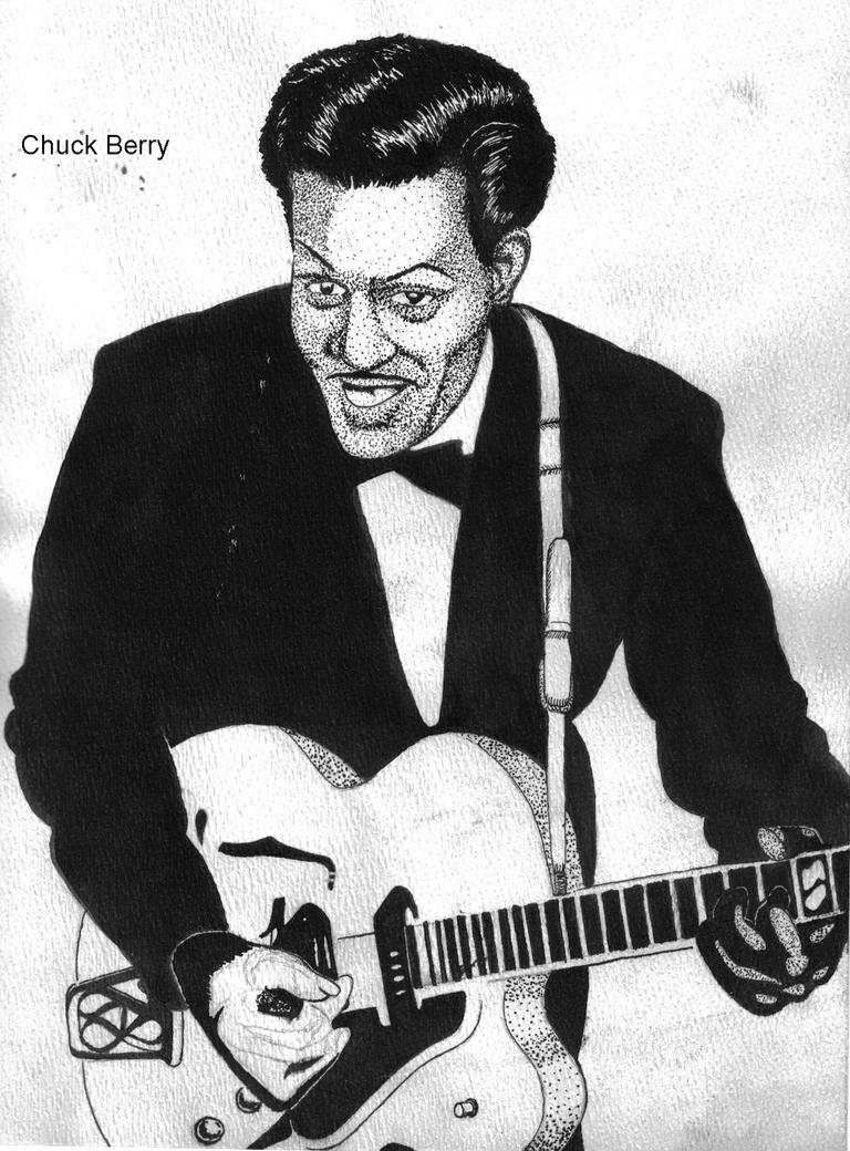 Chuck Berry by fenrisget