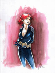 Black Widow Sketch by Kromdor