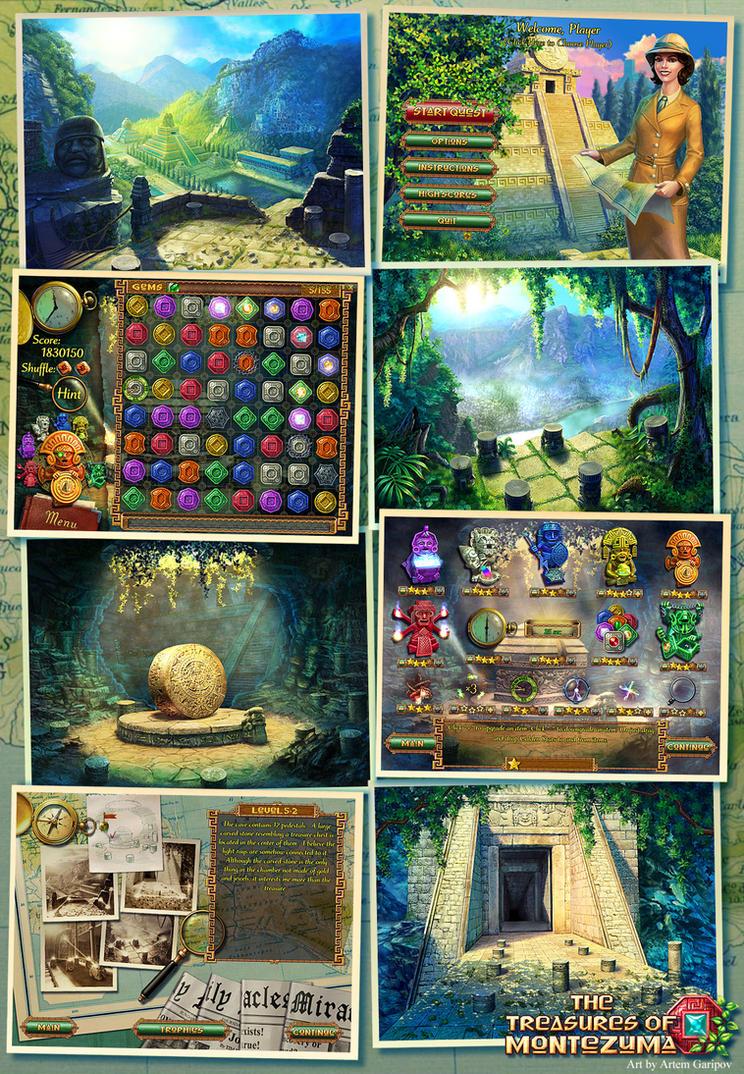 39 the treasures of montezuma 39 game art by artem garipov on deviantart. Black Bedroom Furniture Sets. Home Design Ideas