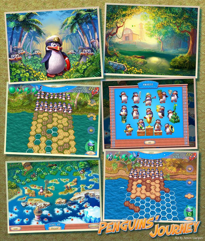 penguins 39 journey game art by artem garipov on deviantart. Black Bedroom Furniture Sets. Home Design Ideas