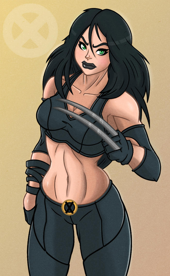 X-23 coloured by DigitalRum