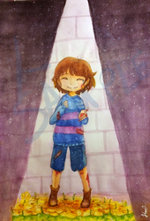 Frisk the pacifist by Harusokuze