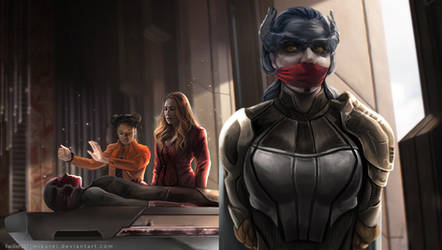 Infinity War Fanart Proxima gagged! by mikurei26
