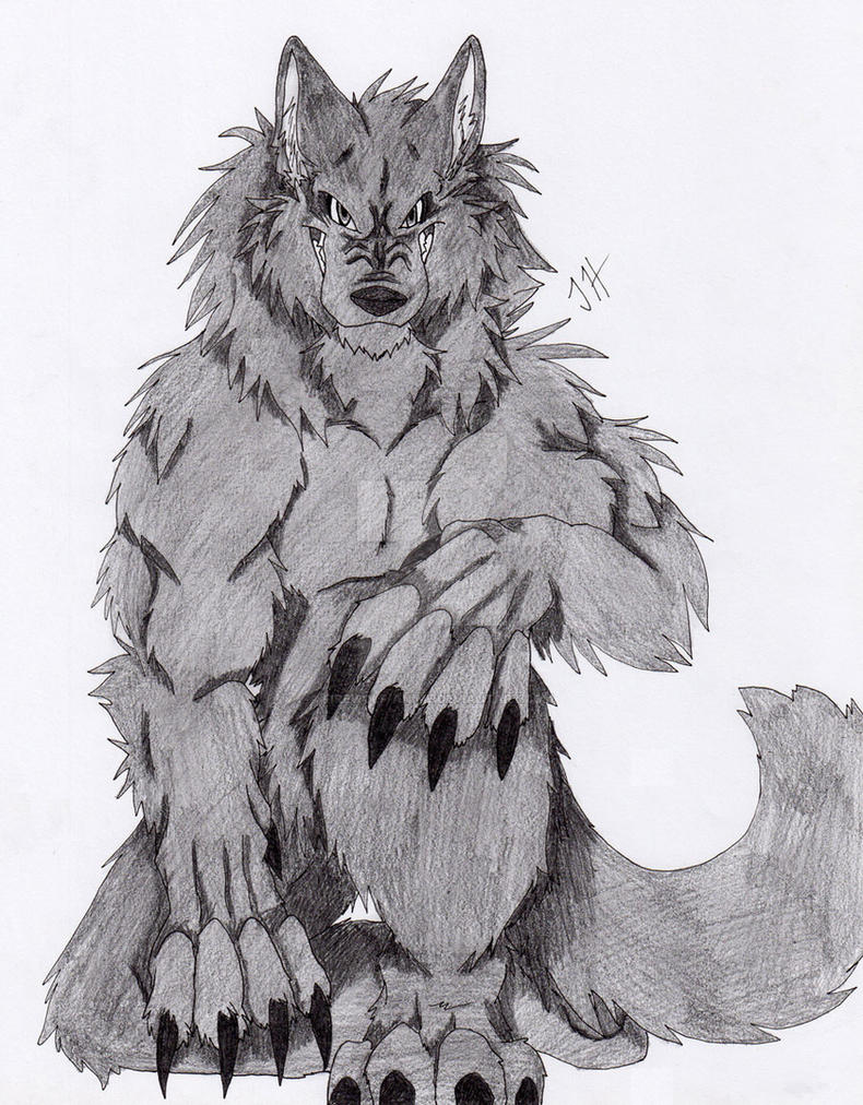 dark werewolf by firewolf anime on deviantart