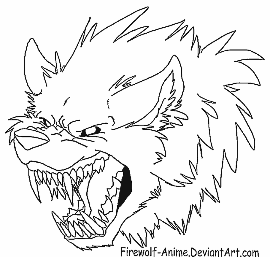 how to draw a werewolf head on