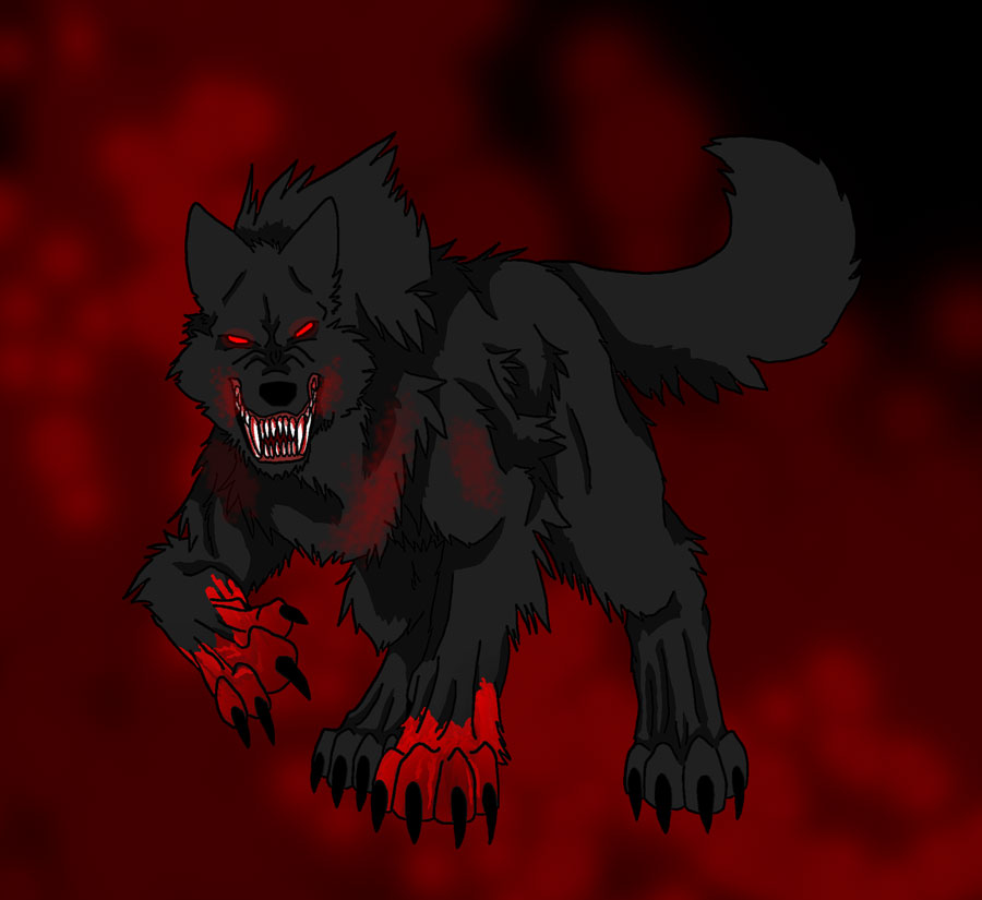 Request - Black Blood Wolf by Firewolf-Anime on DeviantArt