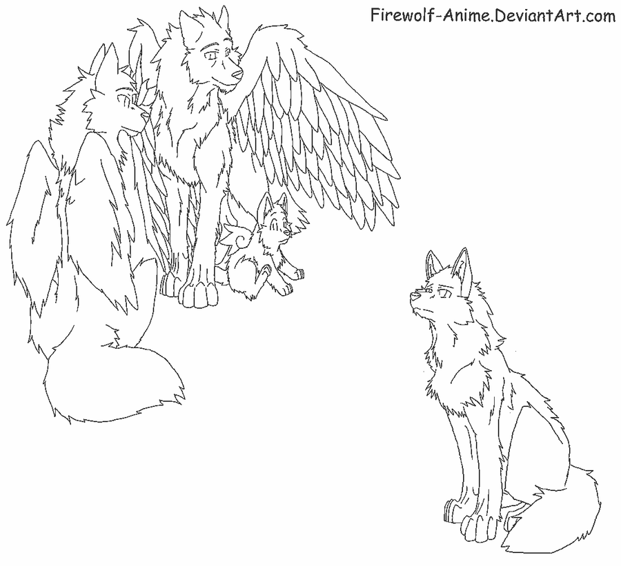 wolf pack coloring pages - firewolf anime bases favourites by luvlibubs123 on deviantart