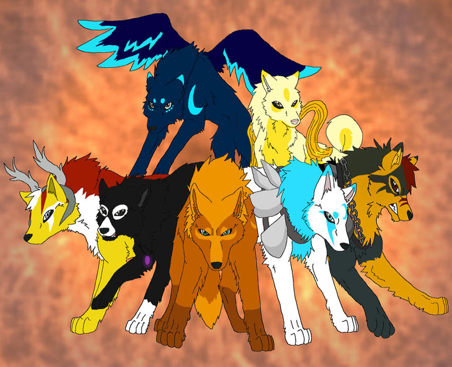 Anime Fire Wolves With Wings | www.pixshark.com - Images ... Anime Fire Wolves With Wings