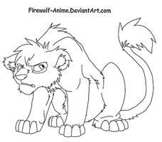 Grumpy Lion Cub by Firewolf-Anime
