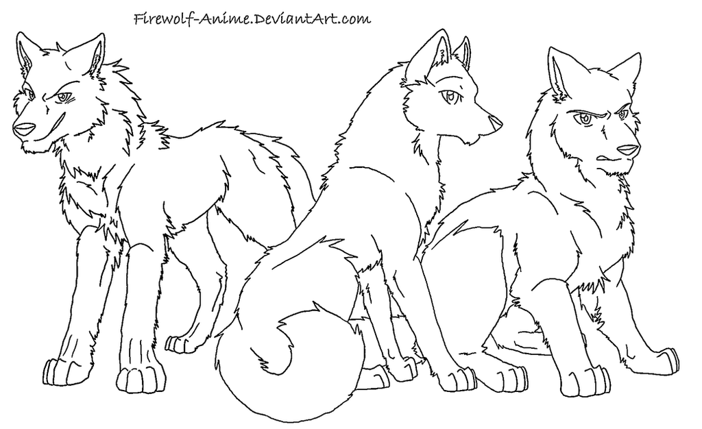 Anime Wolf Coloring Cake Ideas