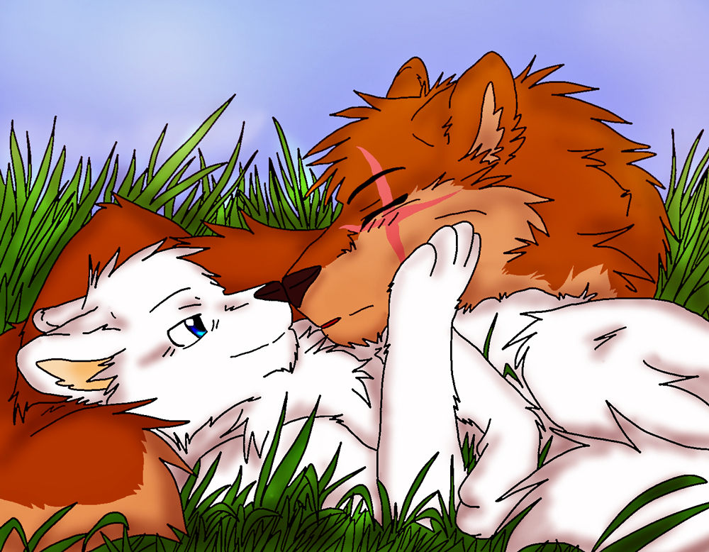Theme 2 love by firewolf anime on deviantart - Anime wolves in love ...