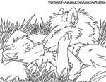 WolfLOVELineArt