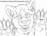 Protection From The Pack LineArt by Firewolf-Anime on