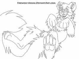 Snow Leopard Line Art by Firewolf-Anime