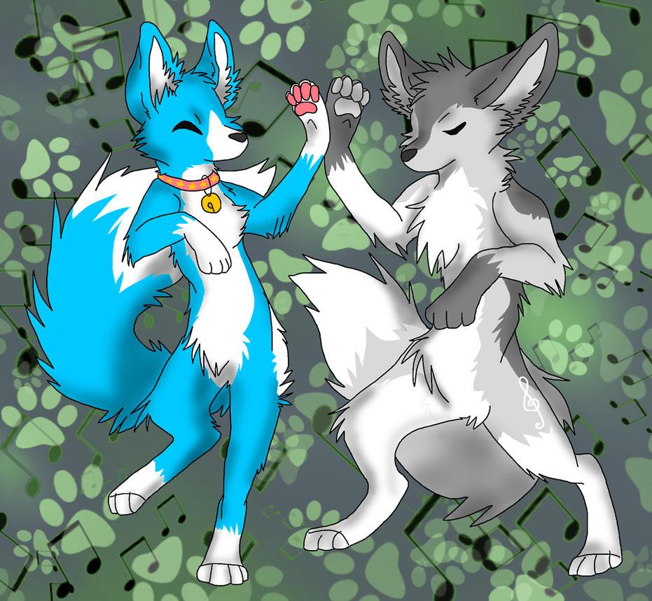 Art Trade: Suzu and Kaleo by Firewolf-Anime