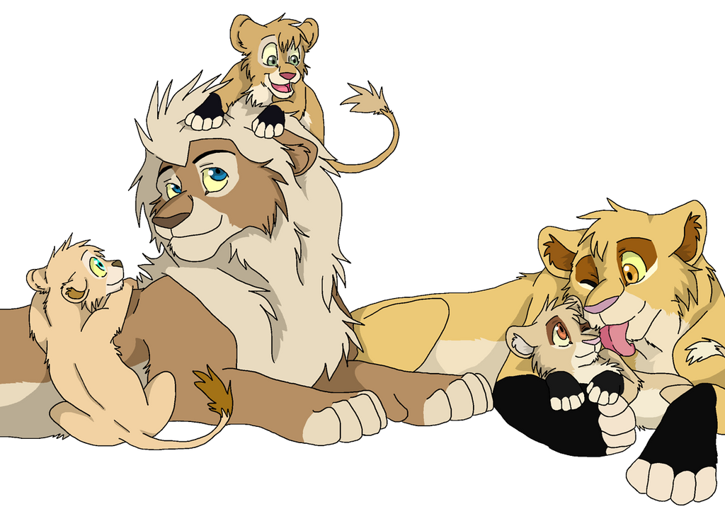 Art Trade Katty Jasim And Cubs By Firewolf Anime