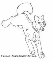 Akita Lineart by Firewolf-Anime