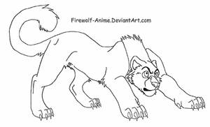 Tiger LineArt by Firewolf-Anime