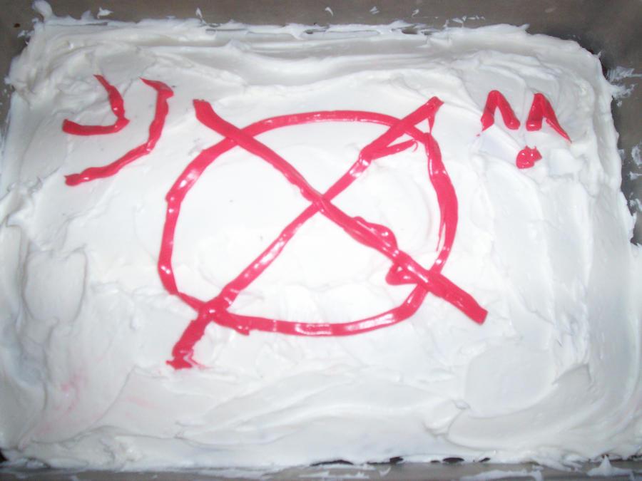 Slenderman cake by animefangirl123456