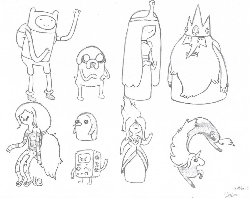 Adventure Time Coloring Pages Cake