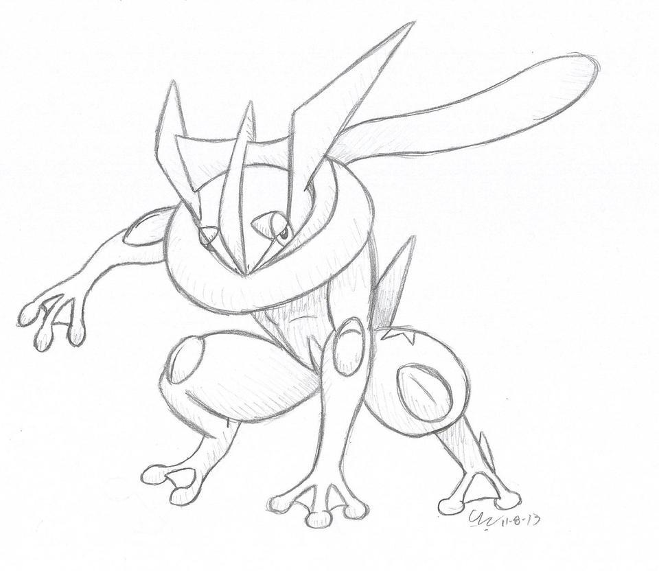 Pokemon Of Mega Greninja - Free Colouring Pages