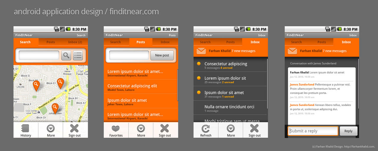 android application design i by freshfarhan on deviantart