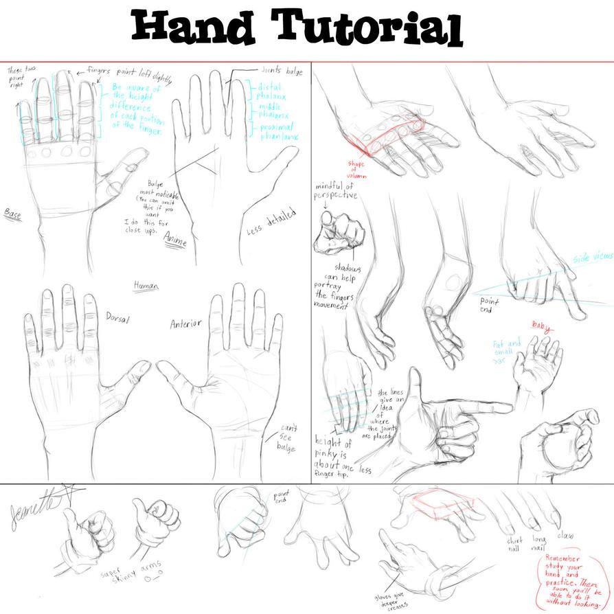 Hand Tutorial By Qtstarthehedgehog On Deviantart  Howtodrawyaoiblhandsarmsand