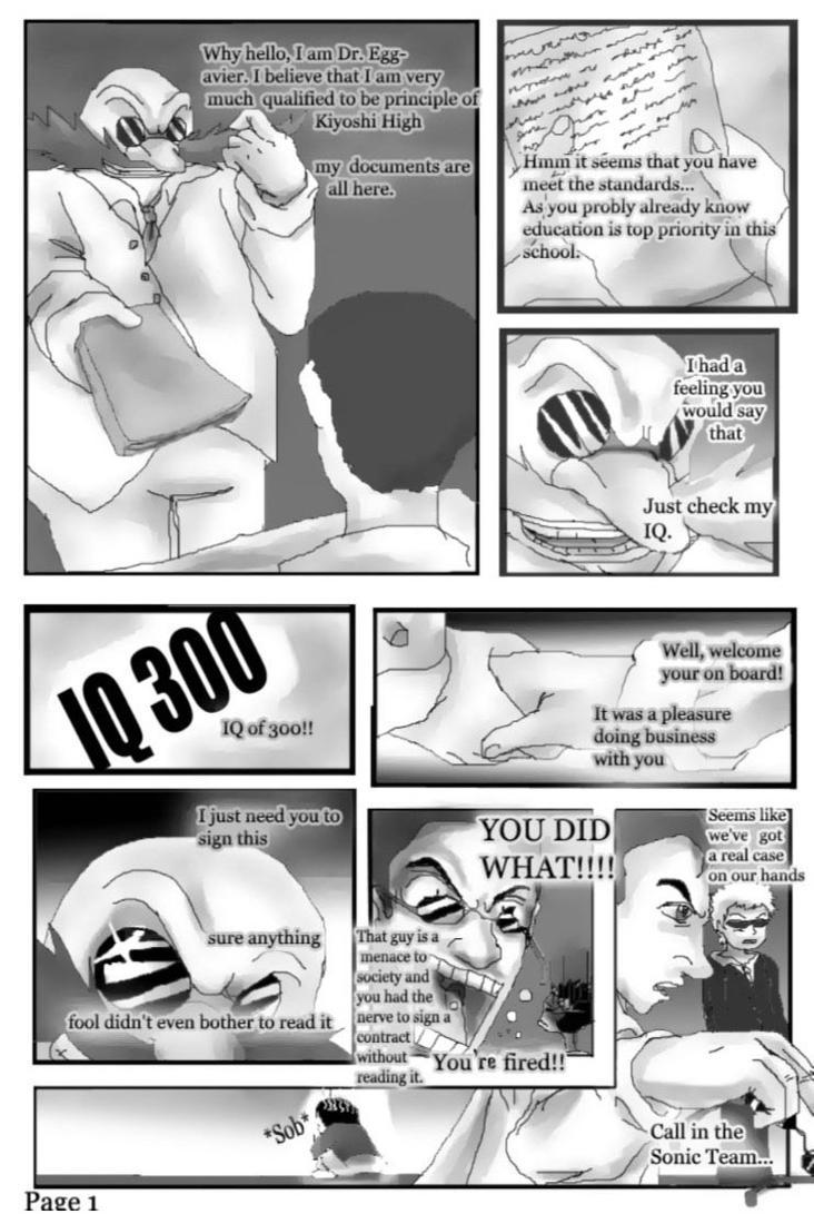 sonic high school comic pg 1 by qtstarthehedgehog on deviantart