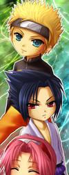 Naruto- Chibi Team7 by ramy