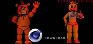 C4d Toy Freddy And Toy Chica Download by rendragading