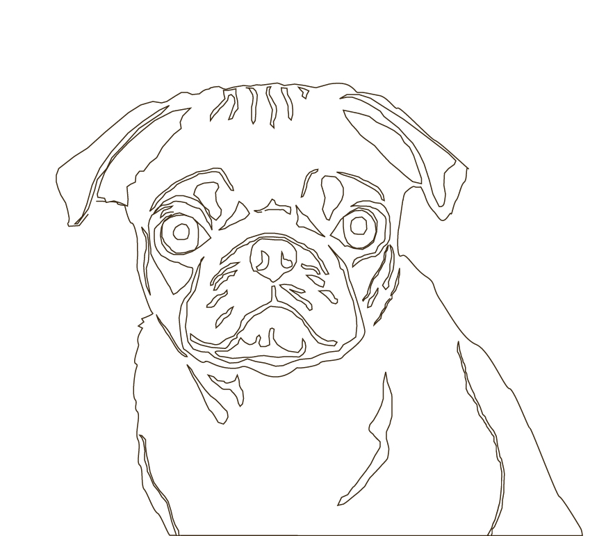 how to draw a girl pug