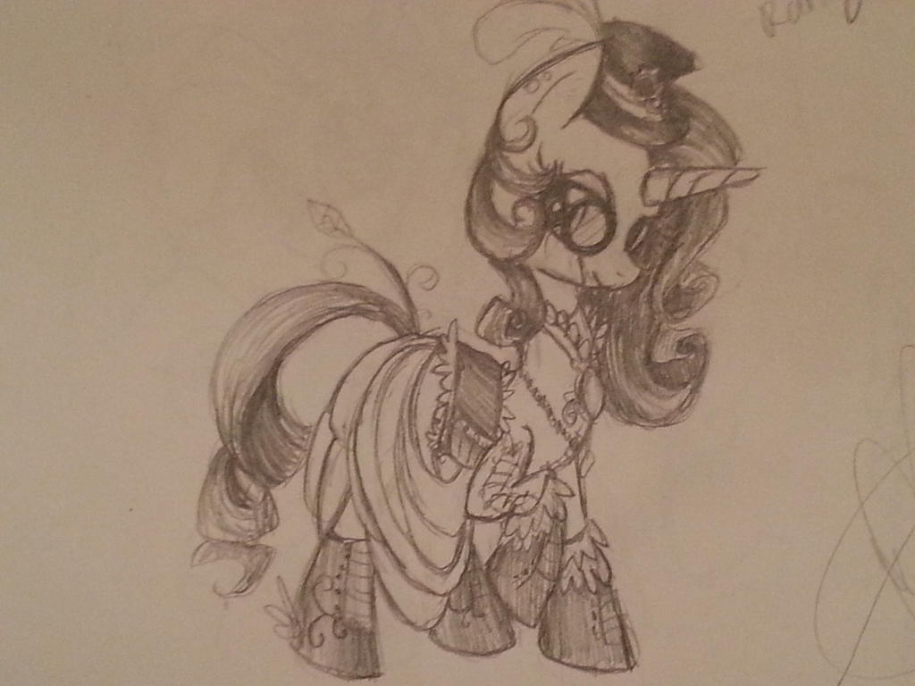 steampunk rarity by smupitpony