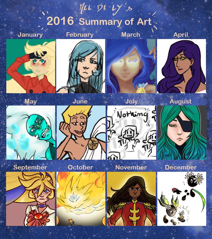 Art Summary 2016 by mel-de-ly