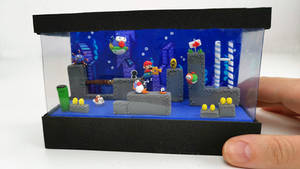 Super Mario underwater scenery