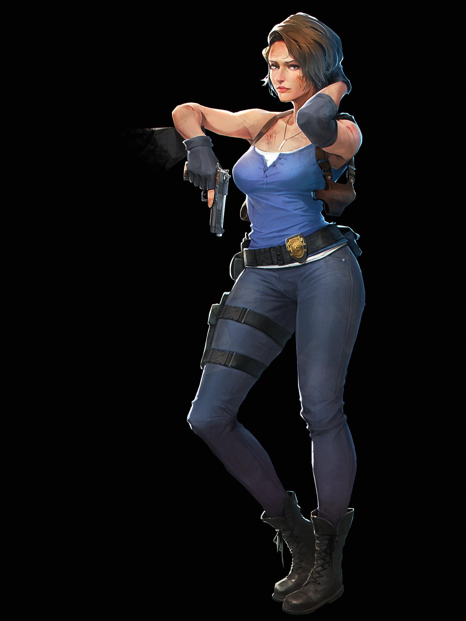 Jill Valentine Resident Evil 3 Remake By Gantzu On Deviantart