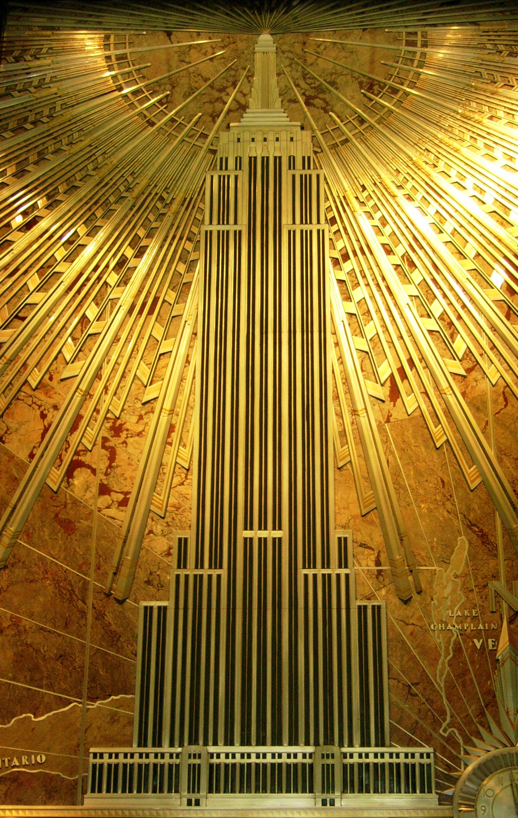 Mural: Empire State Building by ahdser on DeviantArt