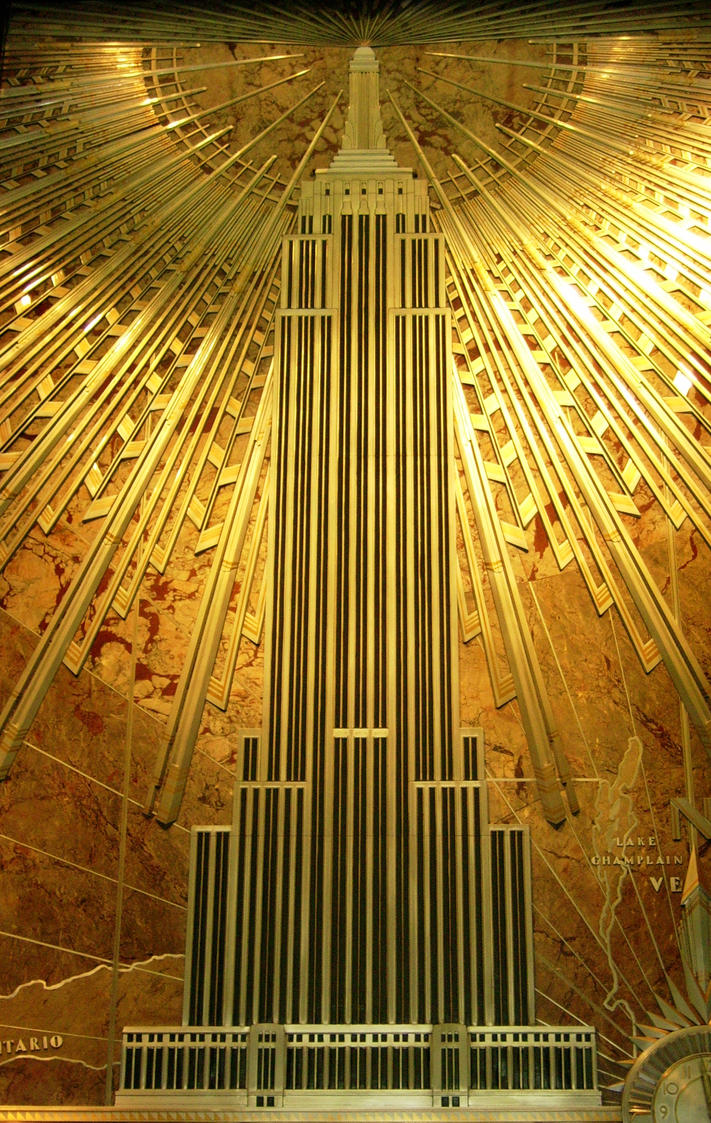 Mural empire state building by ahdser on deviantart for Art deco wallpaper mural