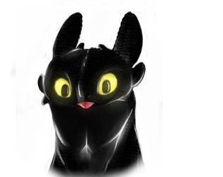 Toothless  Doodle by Demon-Cinders