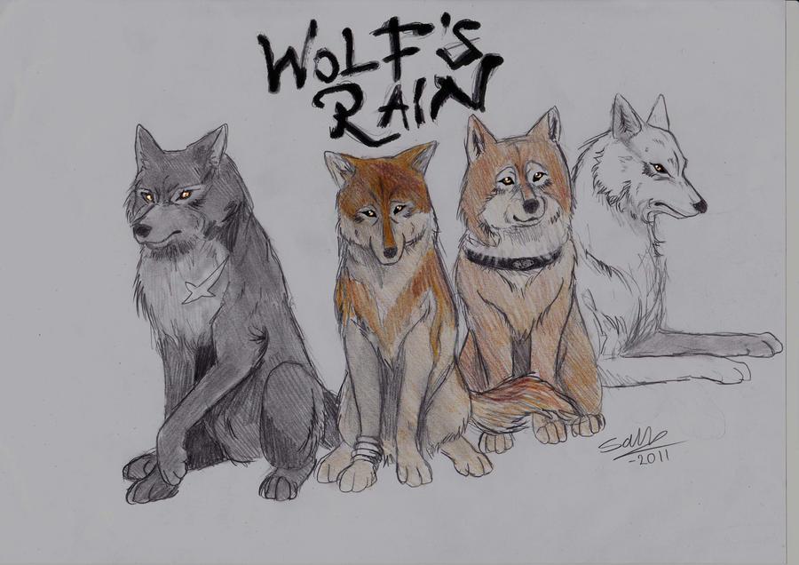 Wolves of Wolfs Rain by MononokeWolfSpirit